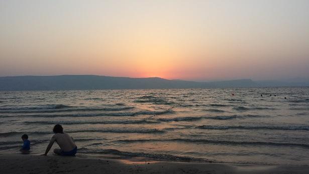 Sonnenuntergang am Seegenezareth