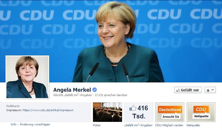 Merkel Facebook