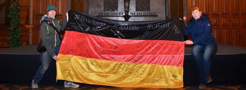 Olympische Deutschlandfahne auf Tour