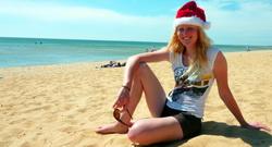 Julia Jung am australischen Strand