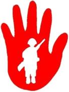 """Die rote Hand - das Zeichen des Gedenktags, dessen englischer Titel """"Red Hand Day"""" lautet."""