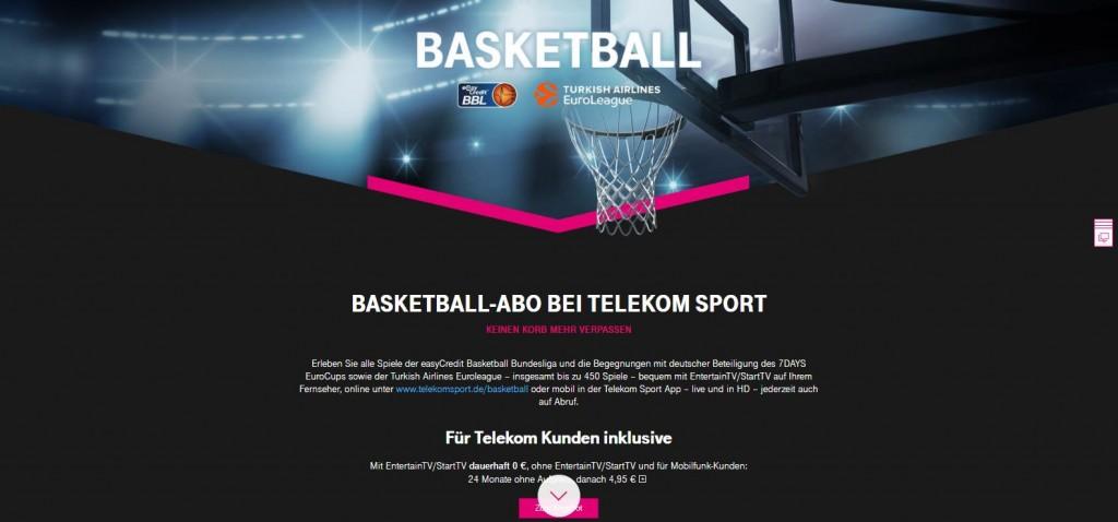 telekom sportpaket basketball abo